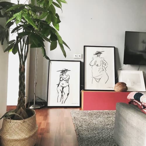 Life drawing | Paintings by Paul Anton and Bea Aiguabella