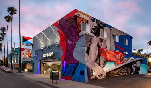 Murals by Robert Vargas at The Kinney Venice Beach, Los Angeles - Warrior Odyssey