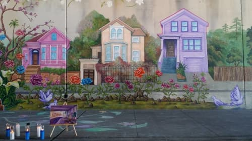 Street Murals by Antonio Ramos at 3500 West St, Oakland, Oakland - Super Heroes Mural # 3
