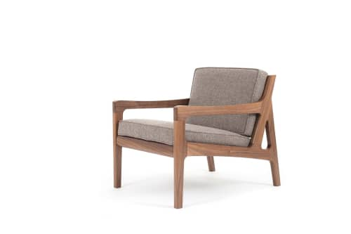 Chairs by Asa Pingree seen at Independent Lodging Congress, in the William Vale NYC, Brooklyn - Pilar Lounge Chair