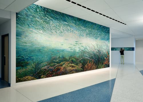 Murals by Dixie Friend Gay at Texas A&M University at Galveston, Galveston - Syncopation Sea and Benthic Zone