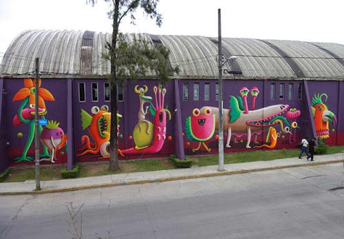 Street Murals by Nicolas Barrome seen at Xalapa, Xalapa - Desfile Nocturno
