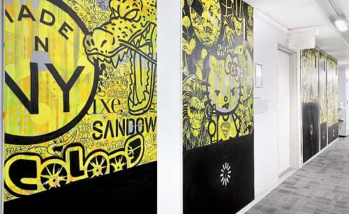 Mixed-media Murals   Murals by Speedy Graphito   Sandow in New York