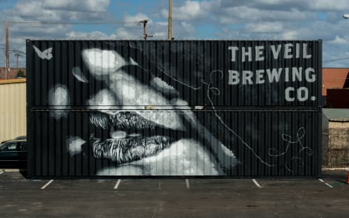 Veiled   Murals by Nils Westergard   The Veil Brewing Co. in Richmond