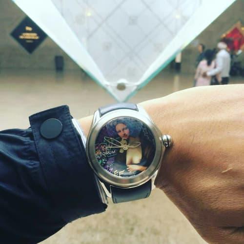 Corum Bubble Watch Design   Apparel & Accessories by Elisabetta Fantone Art   Louvre Museum in Paris