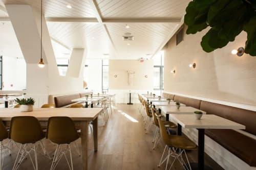 Brass Sconces   Sconces by Atelier de Troupe   Café Gratitude (Arts District) in Los Angeles