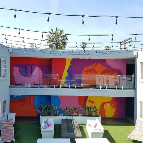The Doors | Murals by Robert Vargas | The Kinney Venice Beach in Los Angeles