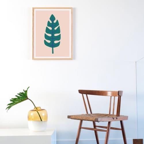 Paintings by Honey & Bloom seen at Honey & Bloom Studio, San Francisco - Palm Leaf