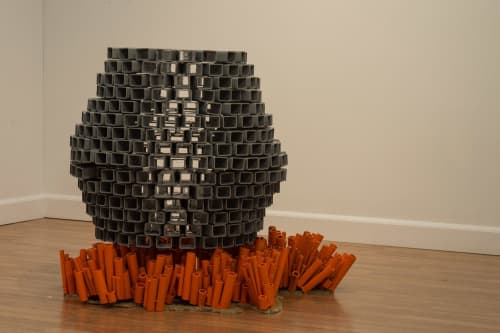 Sculptures by Lily Erb seen at Chroma Projects Art Laboratory, Charlottesville - FORTIFY