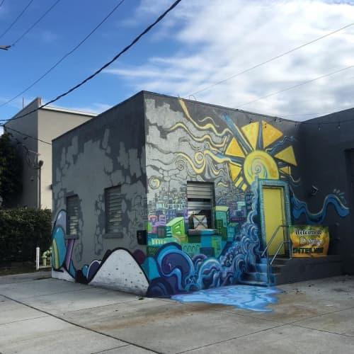 Street Murals by Careth Christine seen at 12 Springs Church, Sarasota - Fun and Rythmic