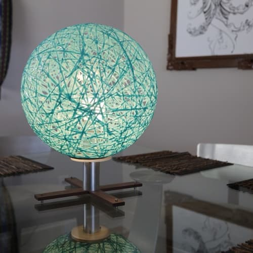 Lamps by Papay Designs seen at Private Residence, Encinitas - Sinuous Nova Table Lamp