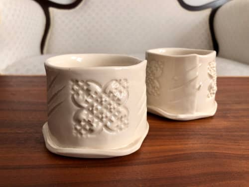 Cups by Brendan Roddy Art at Brendan Roddy Art Studio, Kennebunk - White Cups