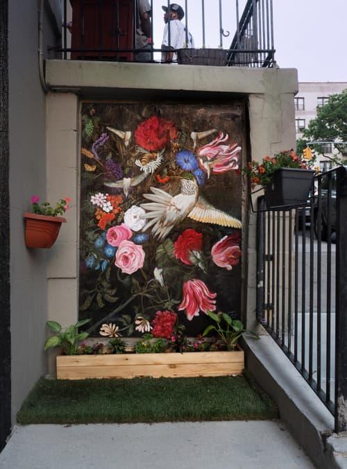 Black-chinned Hummingbird   Street Murals by Ashli Sisk   601 West 149th Street in New York