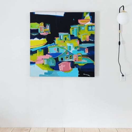 Paintings by Anne Abueva Studio - Old Village