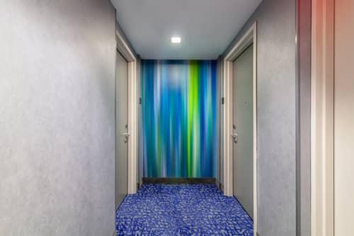 Cascade Deconstructed - Line Series (Corridors) | Murals by Carl Yoshihara | Courtyard by Marriott New York Downtown Manhattan/World Trade Center Area in New York