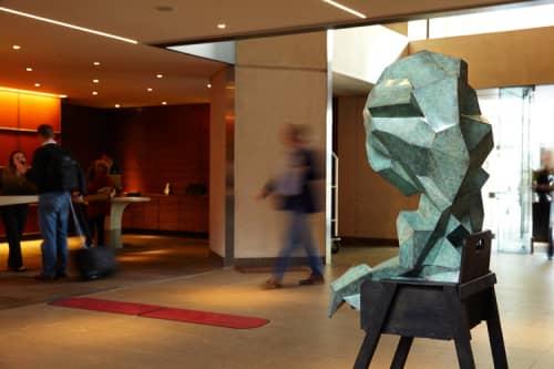 Sculptures by Jud Bergeron seen at Grand Hyatt San Francisco, San Francisco - The Crystalline Baby