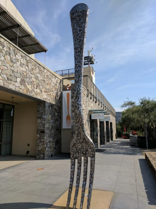 Fork | Sculptures by Gordon Huether Studio | CIA at Copia (The Culinary Institute of America) in Napa