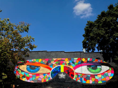 Eyes of Atlanta My Ninja | Murals by Chor Boogie | The Star Community Bar in Atlanta
