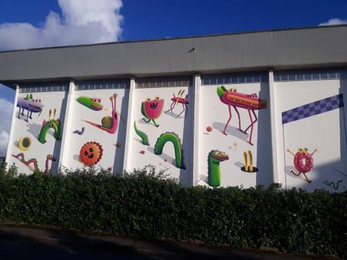 Street Murals by Nicolas Barrome - The Race for Colorama Festival