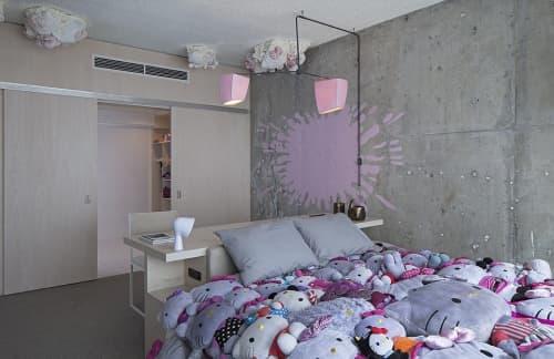 Pink Splat Wall Mural | Murals by Dejana Kabiljo | The LINE LA in Los Angeles