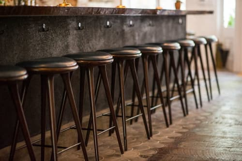 Chairs by Mater Design seen at The Musket Room, New York - High Stool