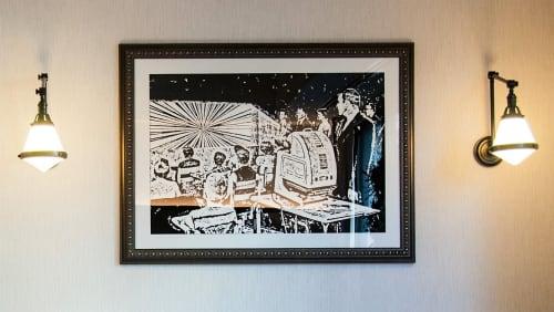 Paintings by Sasha Andruzheychik seen at Kimpton Mason & Rook Hotel, Washington - Fine Art at Kimpton Hotel