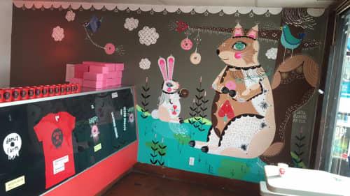 Murals by Bunnie Reiss at Donut Farm Los Angeles, Los Angeles - The Donut Farm Mural
