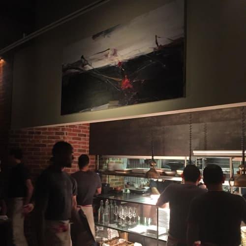 Paintings by Tom Lieber seen at Tar & Roses, Santa Monica - Bar Top