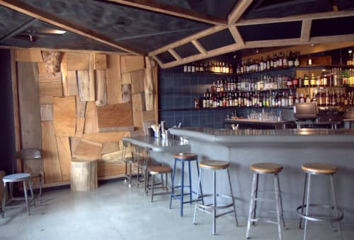 Custom Heavy Metal Seating | Chairs by Wylie Price | Ramen Shop in Oakland