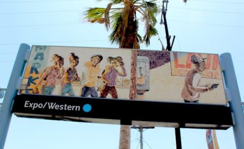Public Mosaics by Ronald J. Llanos at Expo/Western Lightrail Station, Los Angeles., Los Angeles - Ephemeral Views