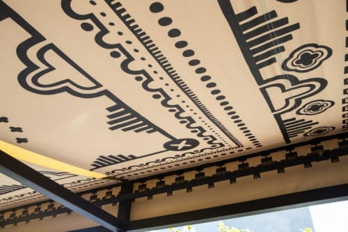Bandanna-Style Awning | Wall Hangings by Alia Penner | Ace Hotel LA in Los Angeles
