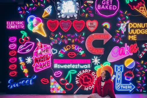 Signage by Electric Confetti at Sugar Republic, Fitzroy - Neon Wall