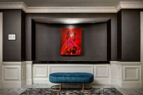 Paintings by Andrew LeMay Cox seen at The Blackstone, Autograph Collection, Chicago - Neon Classic