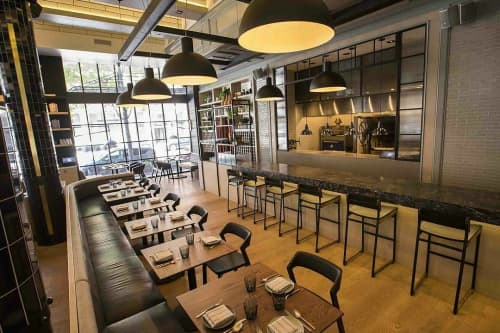 Chairs by Token at Proxi, Chicago - Catenary Bar Stools