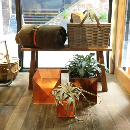 Copper Origami Planters | Vases & Vessels by Trey Jones Studio | 1424 11th Ave in Seattle