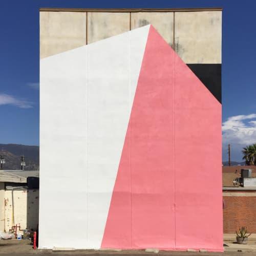 Murals by Tofer Chin seen at Gallerie Silo: Artist Studio, Santa Barbara - 1 Shift - Outdoor Mural