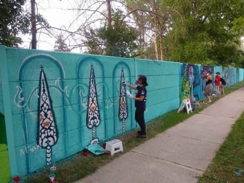 Street Murals by Aitak Sorahi seen at North Drive, Toronto - Mural