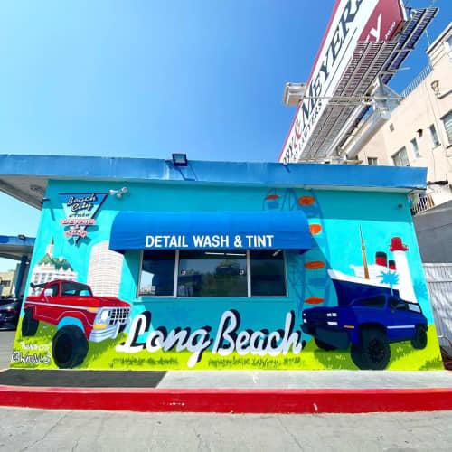 Beach City Mural | Murals by WHOSVLAD | Beach City Auto Detail & Tint in Long Beach