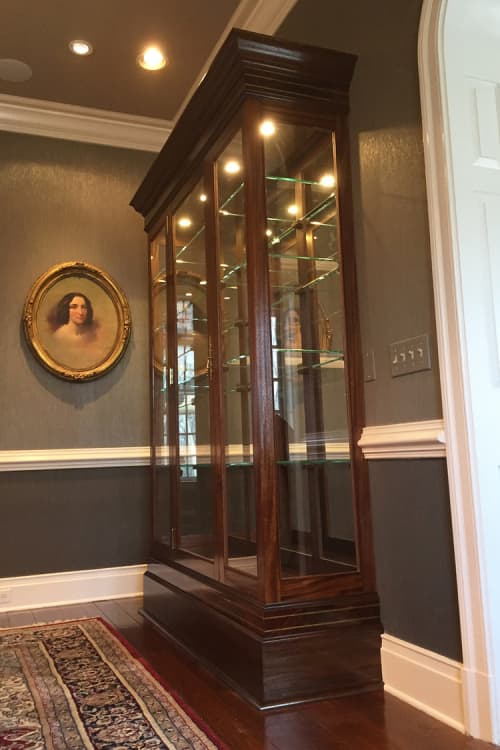 Furniture by Snow Woodworks - Mahogany Display Case