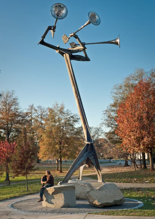 Public Sculptures by Zachary Coffin seen at Cleopas Johnson Park, Atlanta - The Horn Section