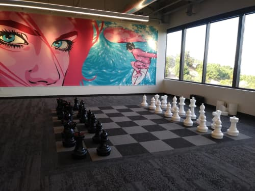 Pink Lady   Murals by James Haunt   GoPro, San Mateo, CA in San Mateo