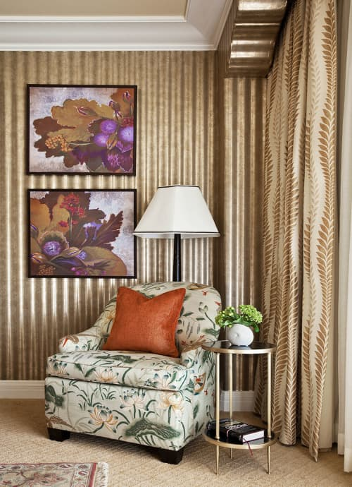 Wild Berries Purple   Paintings by Plush Home by Nina Petronzio   Montage Beverly Hills in Beverly Hills