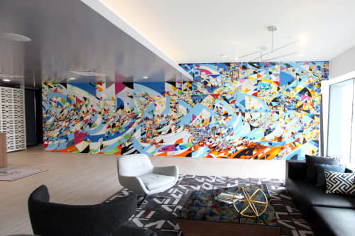 Murals by Justus Roe seen at Le Méridien Chicago - Oakbrook Center, Oak Brook - Le Meridien