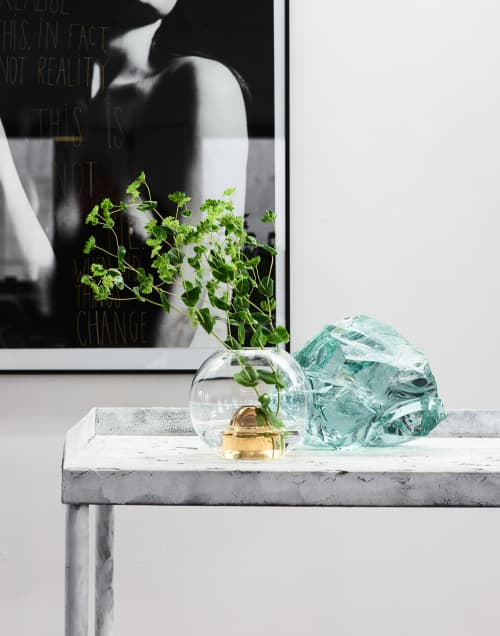 Flower Bullet Vase | Vases & Vessels by Marie Burgos Design and Collection