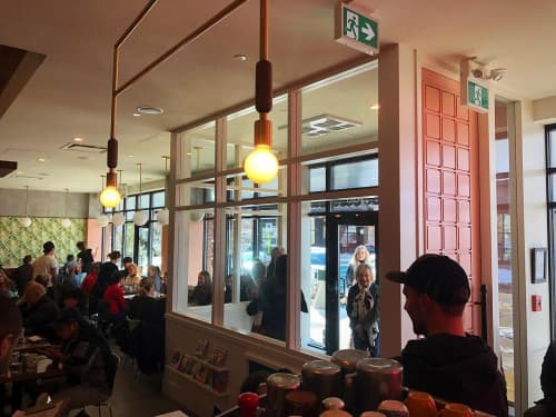 Furniture by Tank Calgary at Diner Deluxe - Mahogany, Calgary - Crafted door