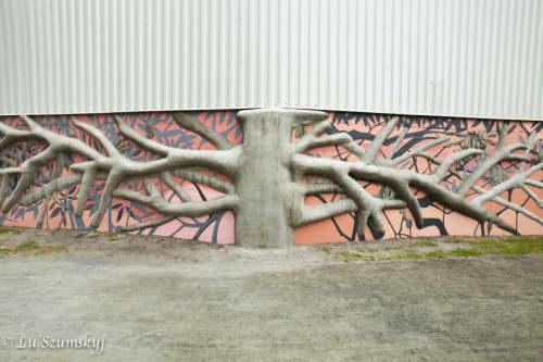 Concrete Tree | Street Murals by Paul Santoleri | Manayunk Canal Towpath in Philadelphia