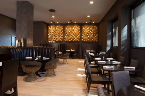 Geometric Wall Sculptures   Sculptures by Derek Keenan   H Hotel Los Angeles, Curio Collection by Hilton in Los Angeles