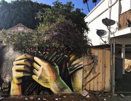 Alley Bouquet | Murals by Alice Pasquini | The Gabba Gallery - Los Angeles, CA in Los Angeles