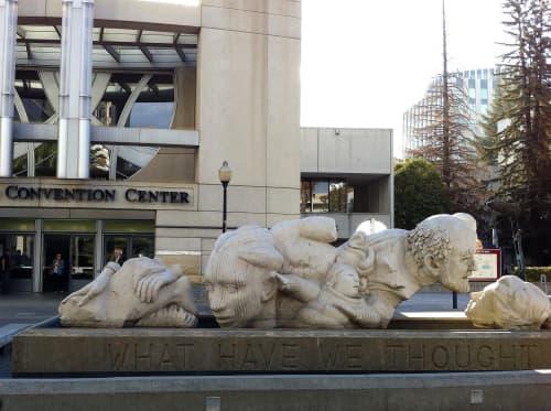 Sculptures by Stephen Kaltenbach at Sacramento Convention Center, Sacramento - Time to Cast Away Stones