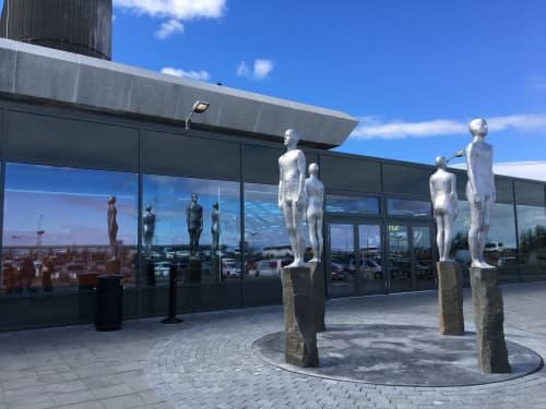 Sculptures by Steinunn Thorarinsdottir seen at Keflavik International Airport - Directions